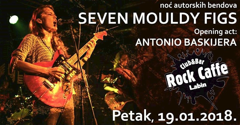 Noć autorskih bendova u Rock caffeu Labin - 7 Mouldy FIGS + Antonio Baskijera 19.1.2018.