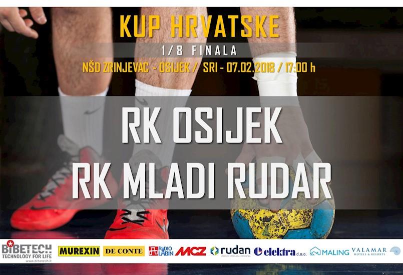 [NAJAVA] RK Mladi rudar sutra u Osijeku igra 1/8 finala Kupa Hrvatske / Najave ostalih utakmica labinskih rukometaša