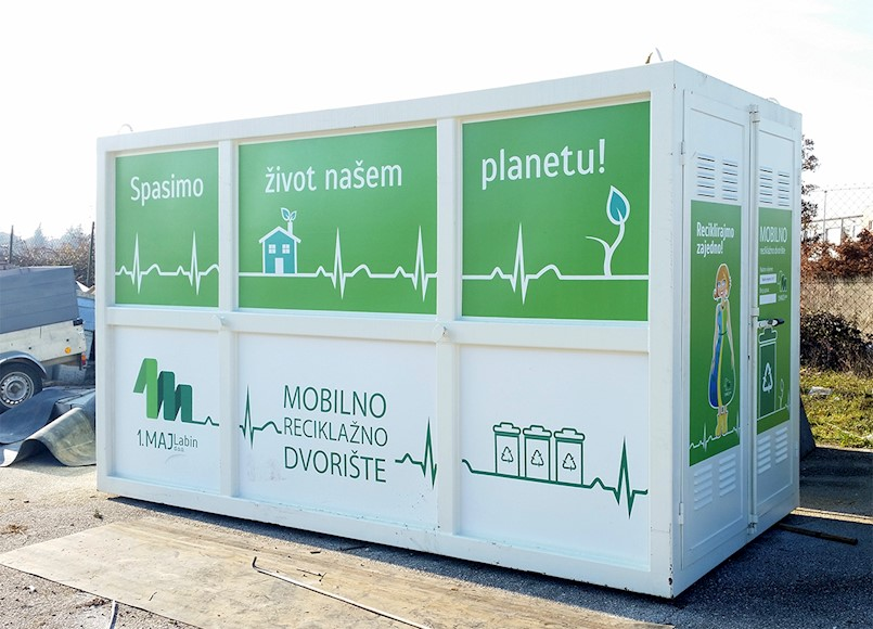 Mobilno reciklažno dvorište na području Općine Kršan tijekom veljače