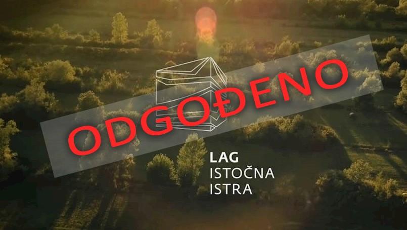 """Odgoda projekcije promotivnog filma LAG-a """"Istočna Istra"""" za 6. 3. 2018."""