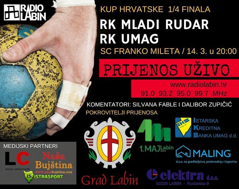 Sportski spektakl godine u Labinu  RK Mladi Rudar – RK Umag / Uživo na Radio Labinu