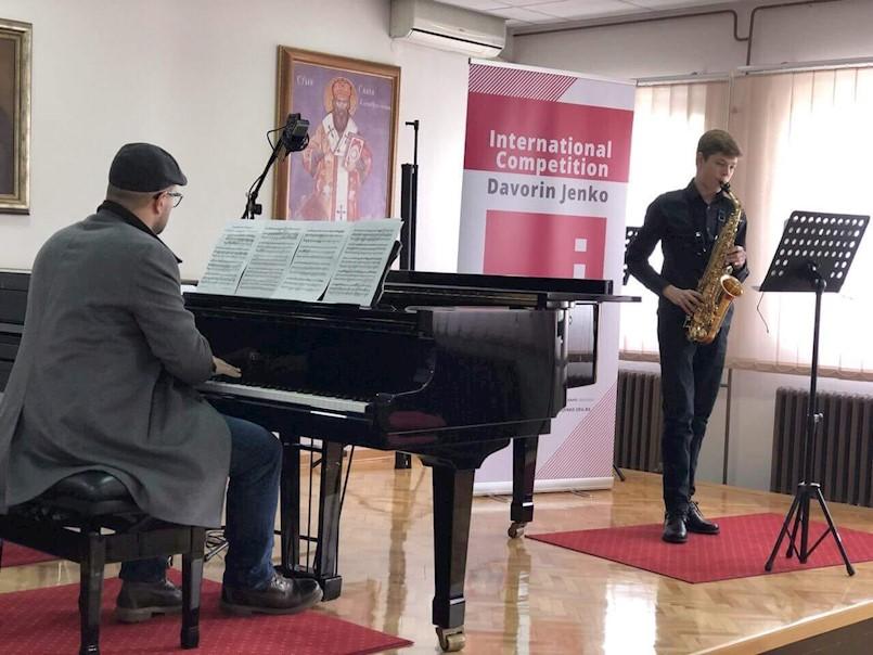 Niku Frankoviću pohvala na međunarodnom glazbenom natjecanju u Beogradu