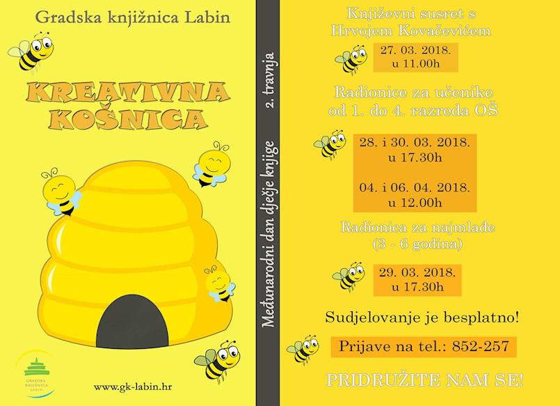 Gradska knjižnica Labin Međunarodni dan dječje knjige obilježava književnim susretima i radionicama