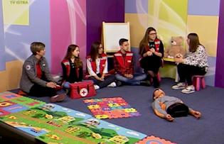 [VIDEO] U emisiji TV Istre gostovali Gradsko društvo Crvenog križa Labin  i OŠ Vitomir Širola Pajo iz Nedešćine