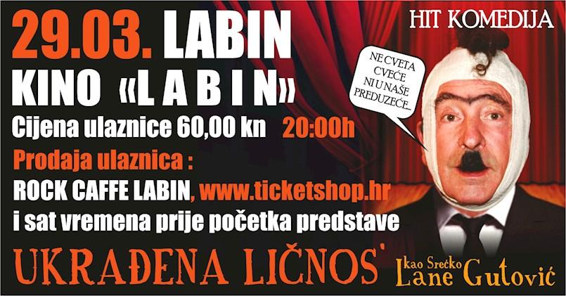 [PREDSTAVA] Hit komedija Ukrađena ličnos' ovaj tjedan u Pazinu i Labinu!