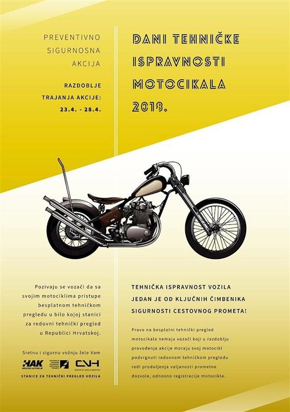 PU Istarska: Dani tehničke ispravnosti motocikala 2018. od 23. do 28. travnja