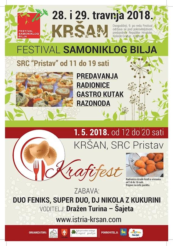 [NAJAVA] Kršan: 9. Festival samoniklog bilja 28. i 29. travnja / Krafifest 1. svibnja 2018.
