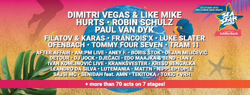 Sea Star radi tulume za otvaranje i zatvaranje festivalskog vikenda u Umagu! Aktualne cijene ulaznica još samo do 18. svibnja!