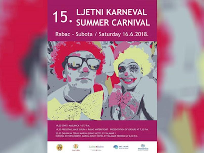 [NAJAVA] Ljetni karneval u Rapcu 16. lipnja 2018. godine