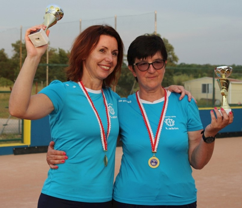 Tanja Grubiša i Vesna Tončinić (BK Labin) osvojile su naslov prvakinja Istre u parovima