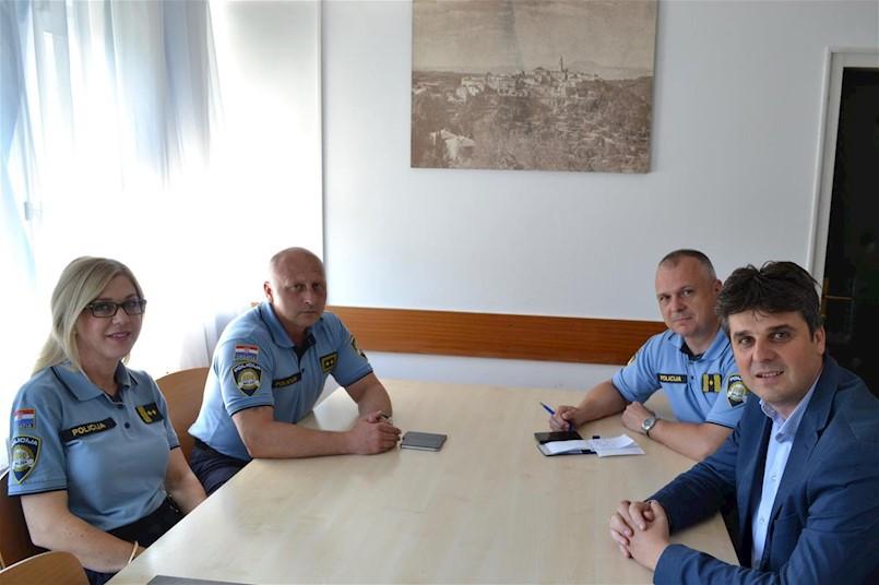 Načelnik PU Istarske na sastanku s Gradonačelnikom