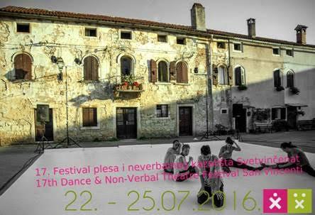 17. Festival plesa i neverbalnog kazališta Svetvičenat - 22.- 25. 07. 2016.