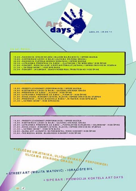 2. ART DAYS - Dani umjetnosti od 26. do 28. kolovoza u Labinu