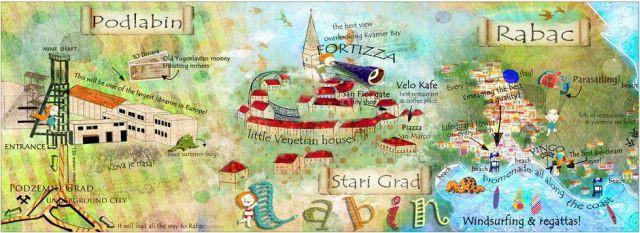 Ilustrirana mapa Labina Antoane Oreški-Džafić objavljena na BBC-evom   Travel blogu