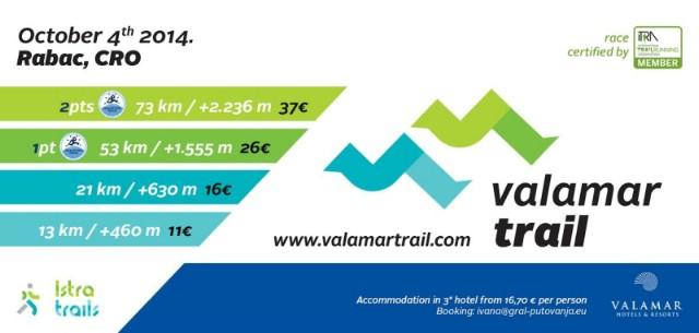 Najavljena Valamar Trail Utrka