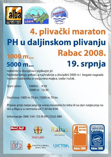 4.rabački plivački maraton Rabac 2008.