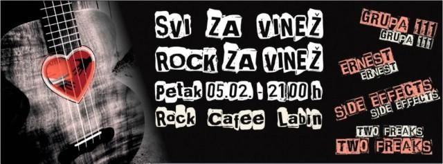 [Nastavak humanitarne akcije] Humanitarni koncert `Svi za Vinež, rock za Vinež` petak 05.veljače u Rock Caffeu Labin