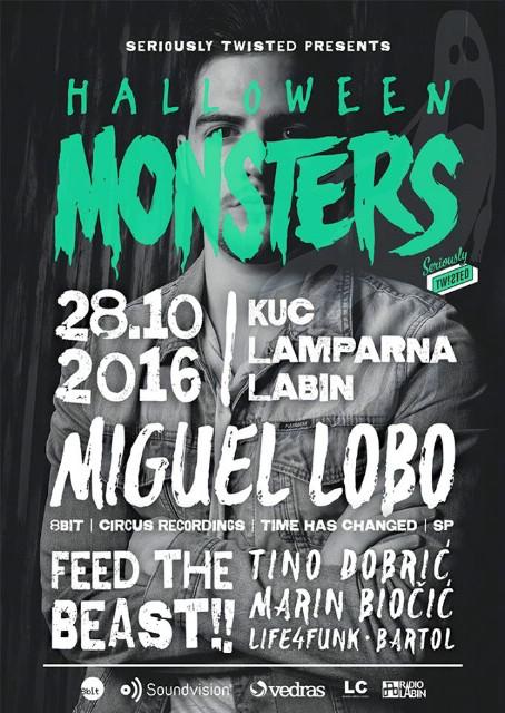 Halloween Monsters w/ MIGUEL LOBO @ KuC Lamparna, Labin 28.10.2016.