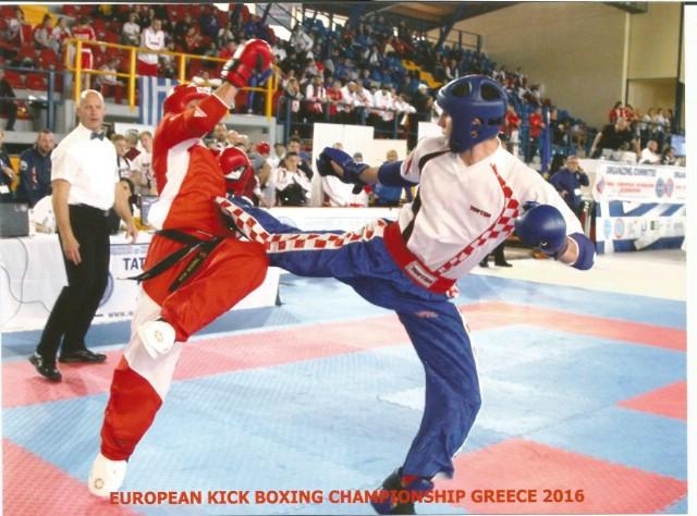 Marino Faraguna petoplasirani na Europskom prvenstvu u  kickboxingu u Grčkoj