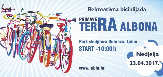 """Poziv na proljetnu biciklijadu """"Terra Albona"""""""