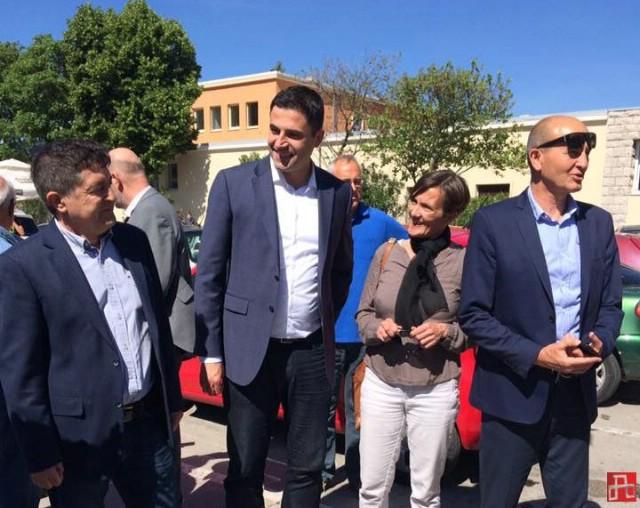 Predsjednik SDP-a Davor Bernardić u Labinu