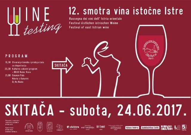 12. Smotra vina istočne Istre 24. lipnja 2017. godine na Skitači