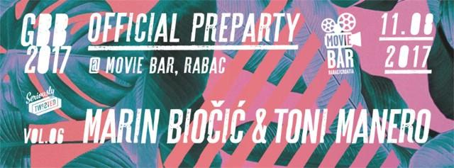 Official Girandella Beat Beach Preparty @ Movie Lounge Bar, Rabac 11.08.2017.