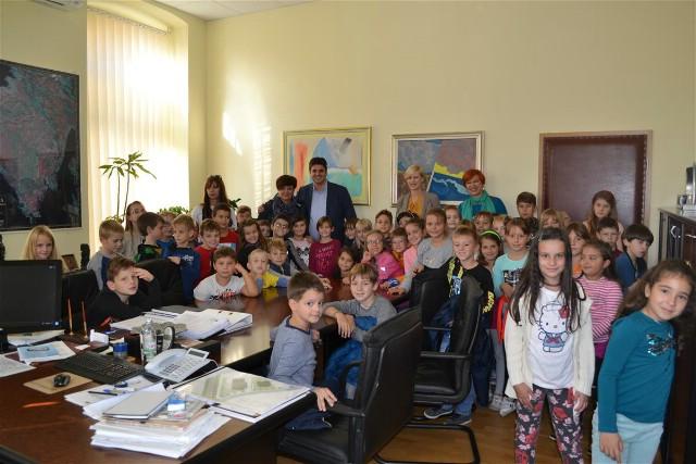 Posjet djece labinskih osnovnih škola gradskoj upravi