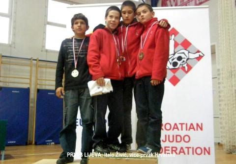 Italo Živić državni vice prvak na  prvenstvu Hrvatske u judou za mlađe-kadet(kinj)e