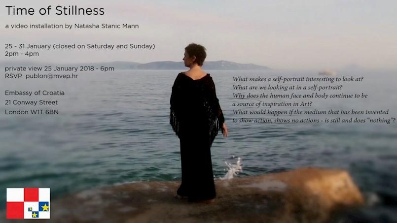 Video instalacija Time of Stillnes Nataše Stanić Mann u hrvatskom veleposlanstvu u Londonu