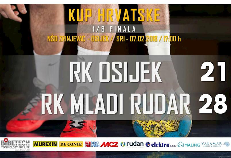 RK Mladi Rudar u četvrtfinalu Kupa Hrvatske