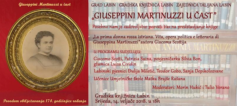 Giuseppini Martinuzzi u čast u Gradskoj knjižnici Labin