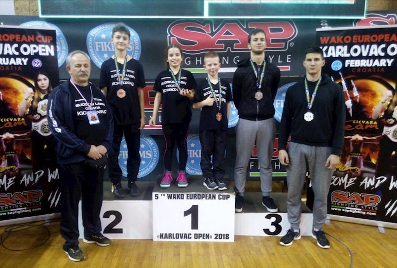 """Labinjanima 5 medalja na Europskom kupu u kickboxingu """"Karlovac open 2018"""""""