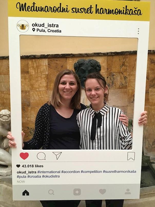 Zapaženi rezultati mladih glazbenika Petra Vorana i Noemi Juričić na 43. međunarodnom susretu harmonikaša u Puli