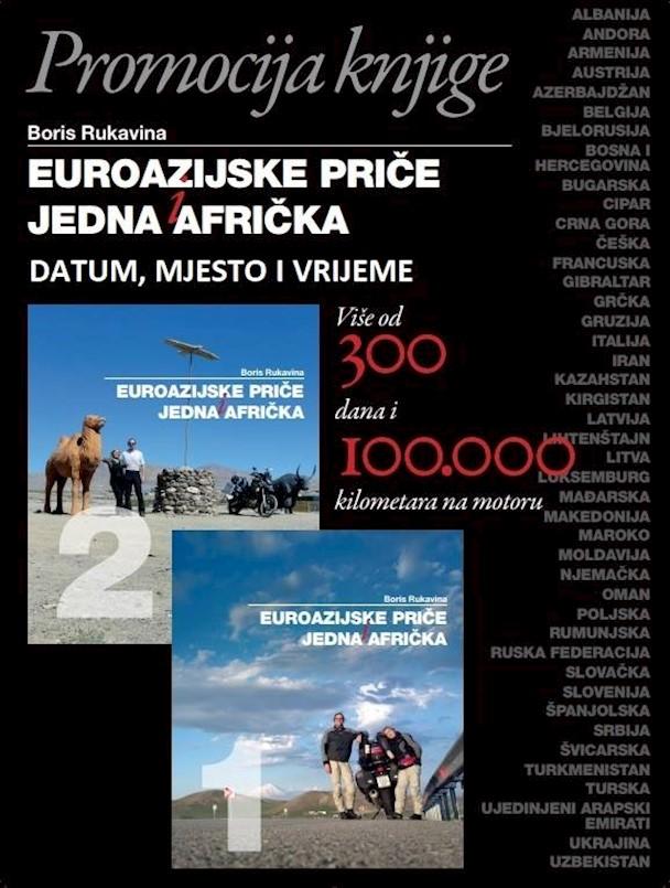 Promocija putopisne-moto knjige Euroazijske priče i jedna Afrička Borisa Rukavine u Rock Caffeu Labin