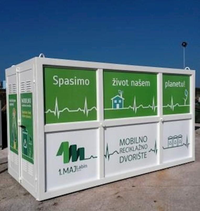 Mobilno reciklažno dvorište u naselju Kunj