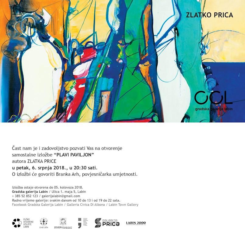 Danas otvorenje izložbe Zlatka Price / Plavi paviljon u Gradskoj galeriji Labin