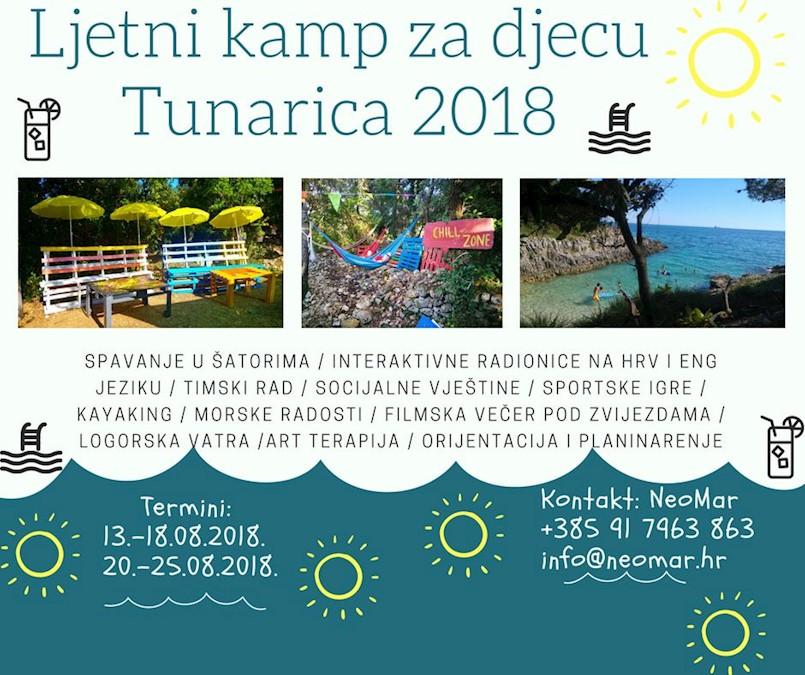 U tijeku prijave za Ljetni kamp za djecu Tunarica 2018