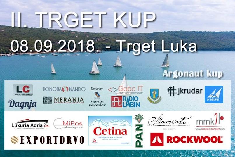 """Jedriličarski Klub Rudar iz Raše domaćin sportsko rekreacijske regate krstaša """"II TRGET KUP"""" 8. rujna 2018."""