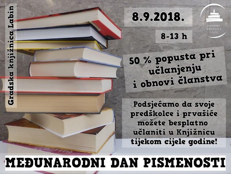 Gradska knjižnica Labin obilježava Međunarodni dan pismenosti u subotu 8. rujna