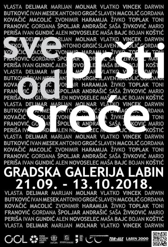 """U petak 21. rujna se u Gradskoj galeriji Labin otvara izložba """"Sve pršti od sreće"""""""