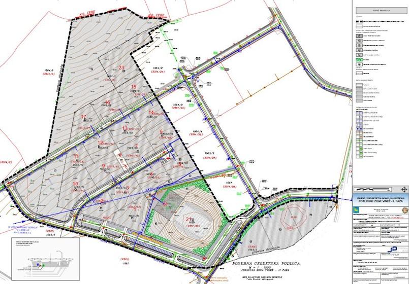 Objava javne rasprave – Izmjene i dopune Detaljnog plana uređenja Poslovne zone Vinež – II faza