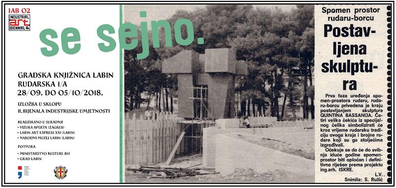 """U sklopu projekta """"Mi gradimo spomenik, spomenik gradi nas"""" , izložba """"Se sejno"""" u Gradskoj knjižnici Labin"""