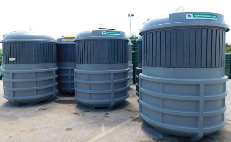 Labinski komunalci nabavljaju još 24 seta podzemenih kontejnera