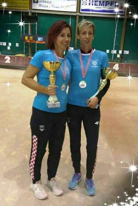 Nives Jelovica i Tanja Grubiša (BK Labin) obranile su naslov prvakinja Hrvatske u parovima
