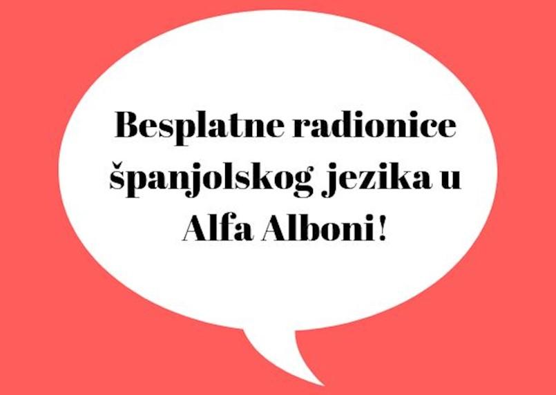 Otvorene prijave za besplatne radionice španjolskog jezika u Alfa Alboni