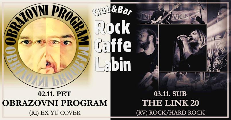 [NAJAVA KONCERATA] Obrazovni program i The Link 20 ovog vikenda u Rock caffeu Labin
