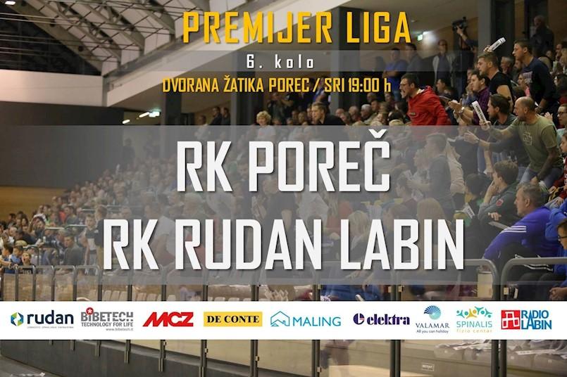 Rukometaši Rudan Labina večeras u Poreču igraju 6. kolo Premijer lige