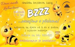 """Povodom Dana meda Labinštine Edukativno-kreativna radionica """"BZZZ... zazujimo o pčelama!""""  u Gradskoj knjižnici Labin"""