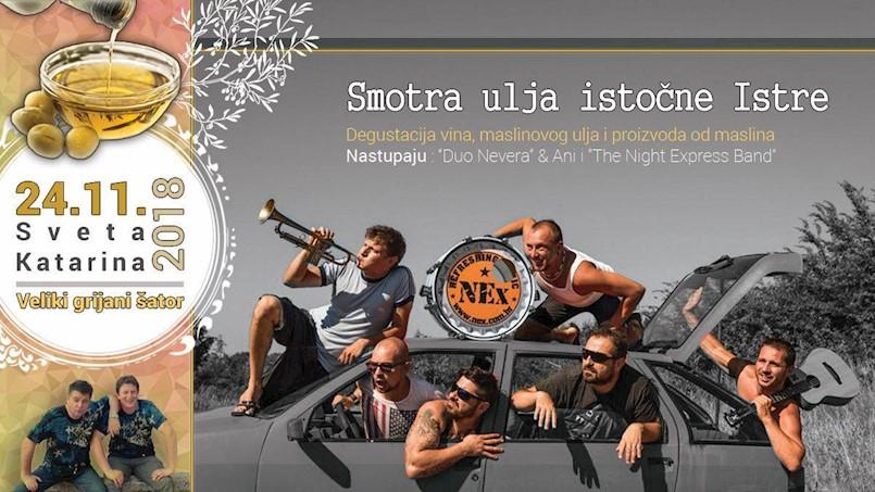 [PROGRAM] Smotra ulja istočne Istre u Pićnu 23. i 24. studenog 2018. | Koncert The Night Express benda